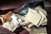 Messy place with plastic bag — Stock Photo