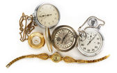 Vintage watches and stopwatches — Stock Photo