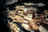 Kağıt evrak arşiv — Stok fotoğraf