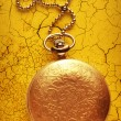 Golden pocket watch with chain — Stock Photo #63455735
