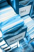 Drawer with business papers — Stock Photo
