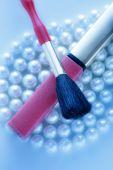 Se štětcem na pearl — Stock fotografie