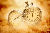 Two vintage stopwatches — Stock Photo