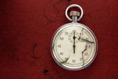 Old cracked stopwatch — Stockfoto