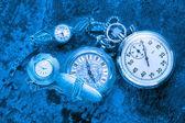 Cronômetro e relógio antigo — Fotografia Stock
