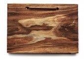 Dark wooden block — Zdjęcie stockowe