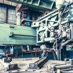 Machine shop of metallurgical works — Stock Photo #65788235