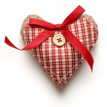 Valentine checked heart — Stock Photo #65788637