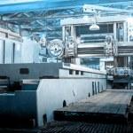 Machine shop of metallurgical works — Stock Photo #65788895