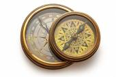 View of vintage compasses — Stock Photo