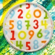 Colorful background with rendom numbers — Stock Photo #68243257