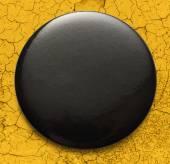 Blank black round badge — Stock Photo