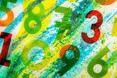 Numéros colorés comme toile de fond — Photo