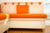 Cosy sofa with pillows — Stock Photo