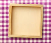 Square wooden frame — Stock Photo