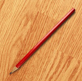 Long red pencil — Stock Photo
