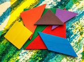 Pentamino puzzle details — Stock Photo
