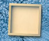 Quadratische Holzrahmen — Stockfoto