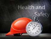 Red safety helmet — Stock Photo