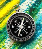Nieuwe zwarte kompas — Stockfoto