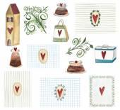 Set di elementi decorativi — Foto Stock