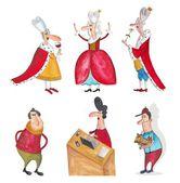 Cartoon characters over white — Stock Photo