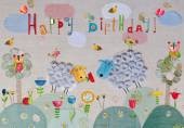 Birthday greeting card — Stock Photo