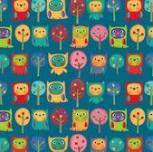 Owls. Illustration for children — Stock Photo