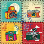 Postage stamps — Stock Vector