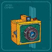 Retro camera — 图库矢量图片