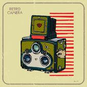 Vintage camera vector — Stockvector