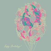 Birthday vector card — Stock Vector
