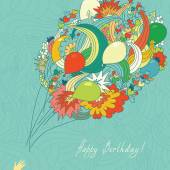 Card Birthday — Stock Vector