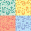 Vintage Floral background set — Stock Vector #60282343
