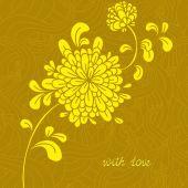 Floral card vector — Stock Vector