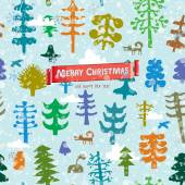 Merry forest — Stock Vector