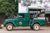 Safari jeep pickup station for Yala tour — Stock Photo