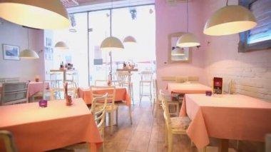レストランのインテリア — ストックビデオ