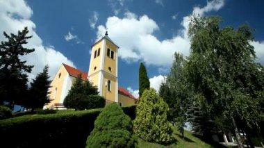 Panoramic shot of church — Video Stock