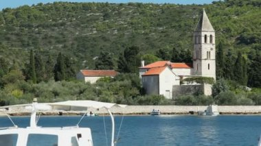 Church view from harbor — Video Stock