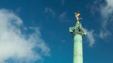 """""""Colonne de Juillet"""" on place de la Bastille — Stock Video"""