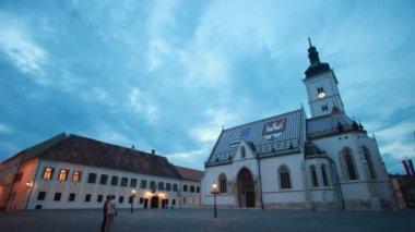 St Mark's Church in Zagreb — Stock Video