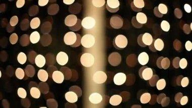 Christmas lights flashing — Stock Video