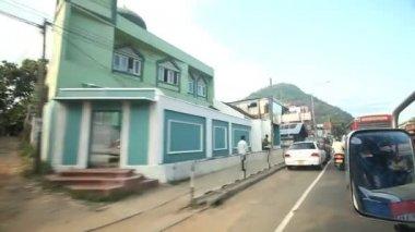 Kandy traffic from a moving car — Vidéo
