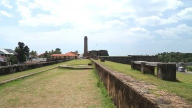 Galle fort walls — Stock Video