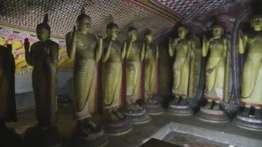 Standing Buddhas at the Golden Temple — Stock Video