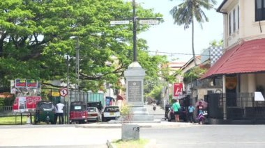 Old town area in the fortress of Galle — Stock Video