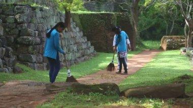 Women working in Sigiriya — Stock Video