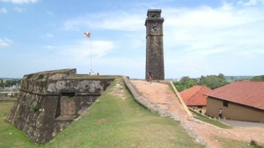 Galle fort tower — Stock Video