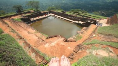 Rock Fortress top in Sigiriya — Stock Video